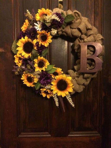 pretty sunflower wreath ideas   summer sunflower burlap wreaths sunflower crafts
