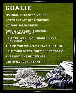 Best 20+ Goalie... Good Lax Goalie Quotes