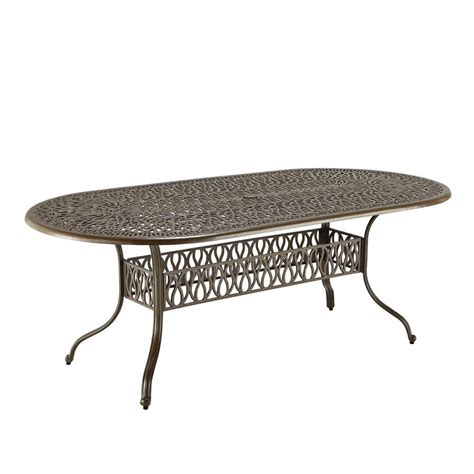 oval patio dining table hton bay mix and match 42 in mesh outdoor patio