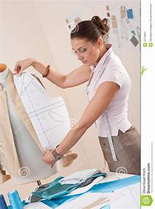 Female Fashion Designer Working Stock Image - Image: 12116661