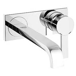 stainless steel wall mounted bathroom sink faucets