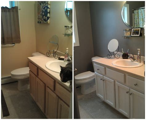 bathroom cabinet paint ideas outstanding doit your shelf repainted neutral oak wood