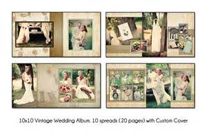 wedding programs vintage 10x10 album template 10 spread20 page design