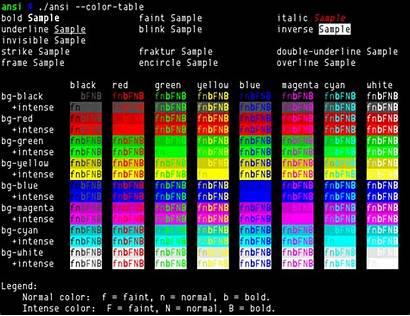 Ansi 256 Colors Terminal Test Change