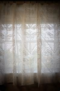 Vintage Crocheted Lace Curtains