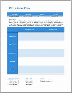 Search results for elementary p e lesson plan template for Elementary pe lesson plan template