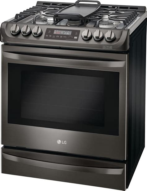 ge gas cooktop lg lsg4513bd 30 inch slide in gas range with convection