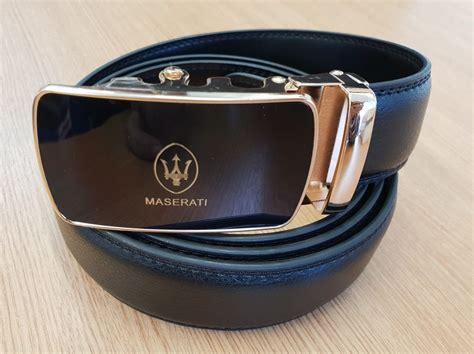 New Luxury Maserati Designer Belts For Men Automatic Black