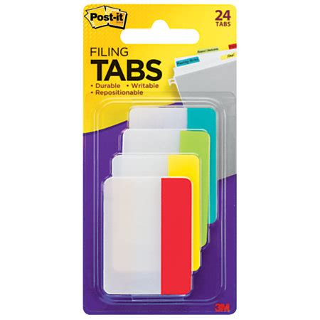 Office Supplies Tabs post it durable tabs 2 assorted colors pad of 24 flags by