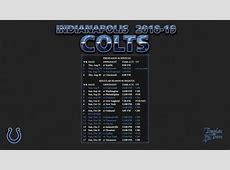 20182019 Indianapolis Colts Wallpaper Schedule