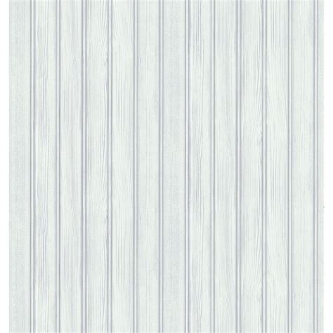 Brewster Northwoods Lodge White Beadboard Wallpaper Sample