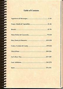 recipe book table of contents template wwwimgkidcom With cookbook table of contents template