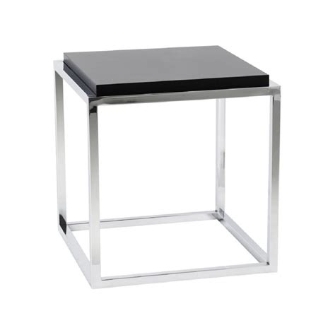table bout de canapé table bout de canapé design metacub noir 42x42x44 pier