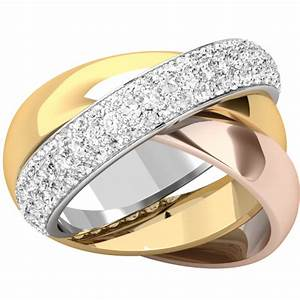 ladies 3 band russiwedding ring in 18ct white gold With white gold russian wedding ring