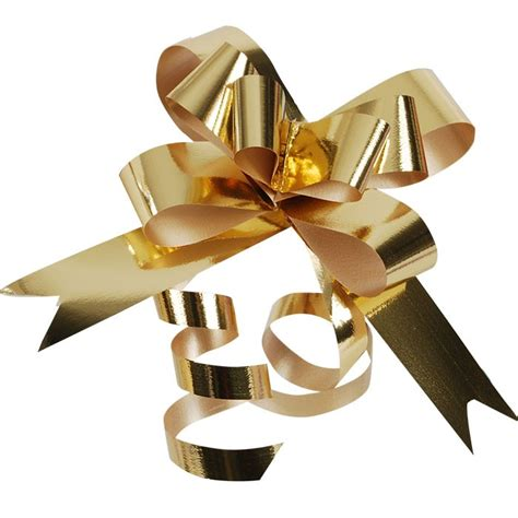 Splendorette Butterfly Pull Bow Metallic Gold 4