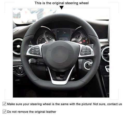 Buy mercedes c300 parts online at parts geek. Loncky Auto Custom Fit Black Genuine Leather Black Suede Steering Wheel Cover for Mercedes Benz ...