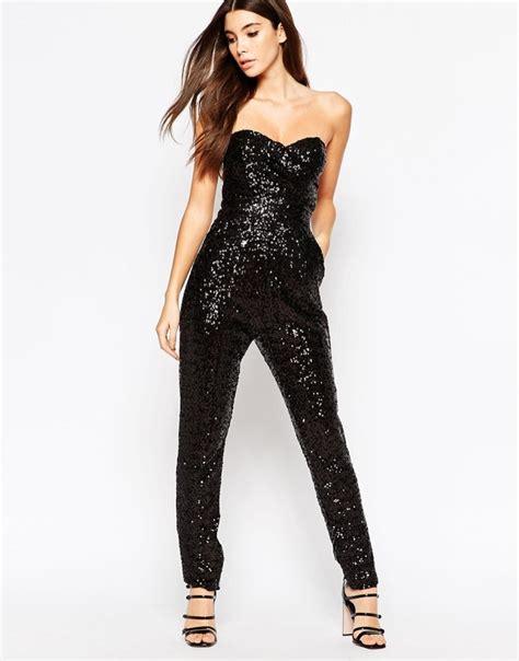 sequins jumpsuit black sparkly jumpsuit trendy clothes