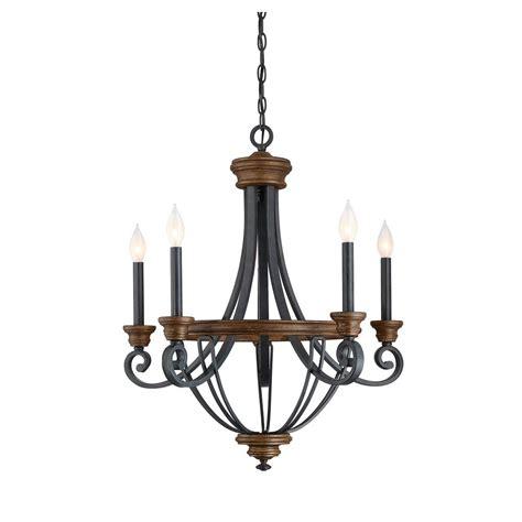 wood chandelier filament design 5 light whiskey wood chandelier ect