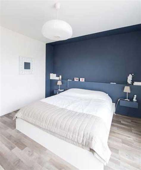 chambre mur bleu couleurs la inspirations  deco chambre