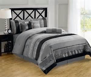 r t 7pc claudia luxury comforter set grey black bedding and comforter sets bedding sets