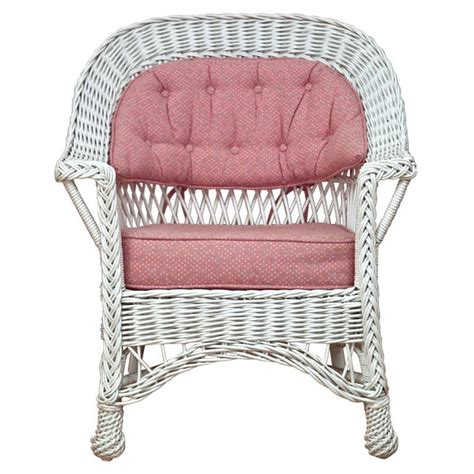heywood wakefield bar harbor wicker chair at 1stdibs