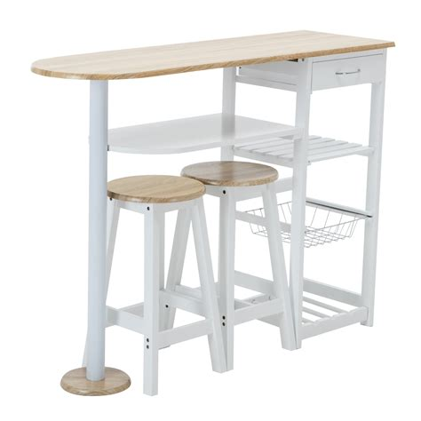 kitchen cart bar table oak white kitchen island cart trolley dining table storage