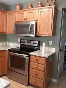 Snowbound, Oak, Kitchen, Cabinets
