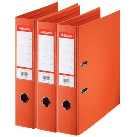 rangement document bureau esselte lot de 7 classeurs à levier standard 2 anneaux dos