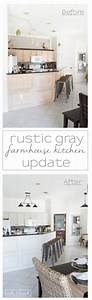 rustic gray farmhouse kitchen reveal th kitchen With kitchen colors with white cabinets with disney world stickers