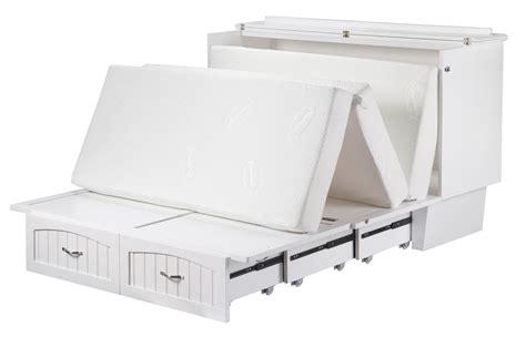 atlantic nantucket murphy bed chest in white