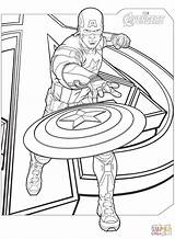Coloring Avengers Pages Captain America Printable Superhero Drawing Games Dot sketch template
