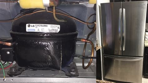 refrigerator  cooling working lg french  door bottom freezer fridge loud compressor noise