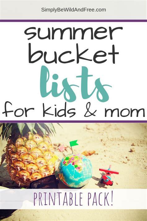 The Boredom Buster Free Printable Summer Bucket List