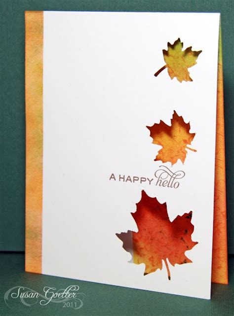 163 best Handmade Autumn Cards images on Pinterest