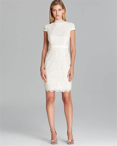 wedding reception dresses 10 white dresses to wear to your wedding reception 9 dipped in lace