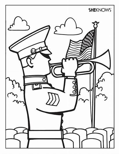Coloring Pages Soldier Memorial Printable Sheets Responders
