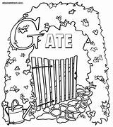 Gate Heaven Gates Colorings Drawing Coloring Colouring Pages Wood Getdrawings sketch template