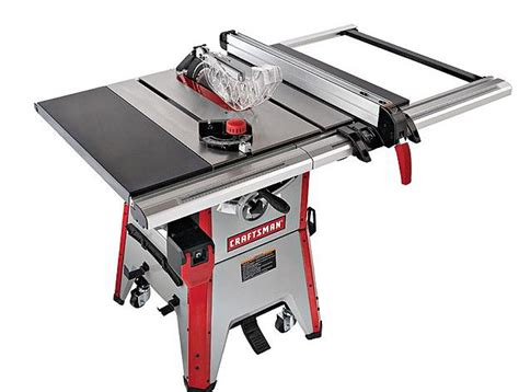 craftsman professional cabinet saw craftsman 10 inch contractor table saw review table saw