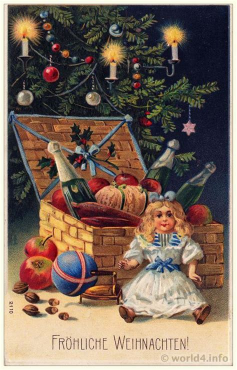 Santa Postcard Giving Toys To From Antique Graphic 5 16 Compendium Lost Found
