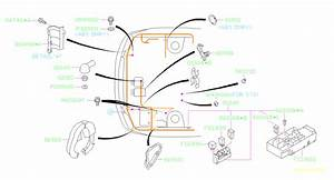 Subaru Impreza Clamp  Wiring  Main  Harness  Front  Electrical