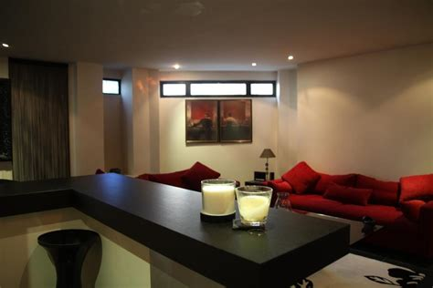 Deco Salon Moderne Rouge