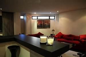 Decoration Maison Moderne : photo salon et rouge d co photo ~ Zukunftsfamilie.com Idées de Décoration