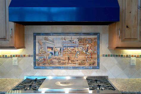 Pat's Blue Delft Diderot decorative kitchen backsplash