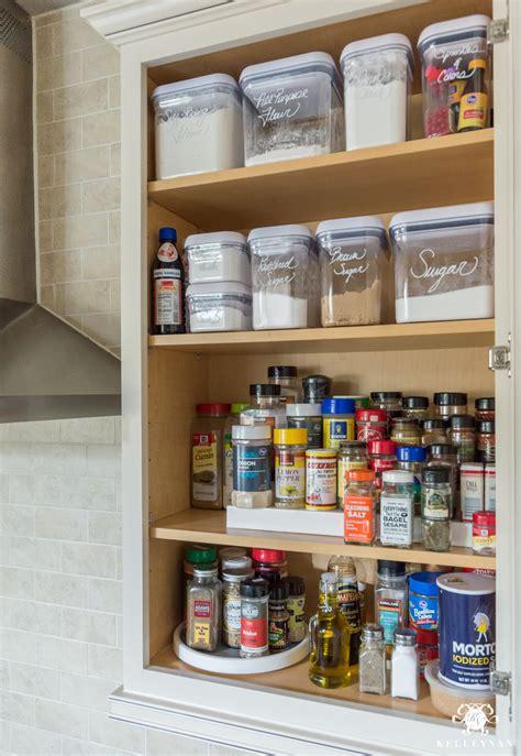 kitchen spice organization ideas easy organized baking and spice cabinet kelley nan