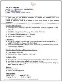 sle curriculum vitae for mba freshers 100 resume format for experienced sle template of a fresher mba and bsc student
