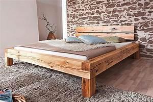 Modernes Bett 180x200 : massivholz bett 180x200 wildeiche ge lt balkenbett doppelbett bettgestell holz ebay ~ Watch28wear.com Haus und Dekorationen