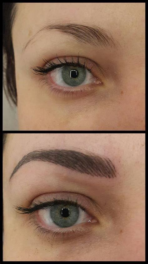 brow tattoo correct sparse brows elegant lashes
