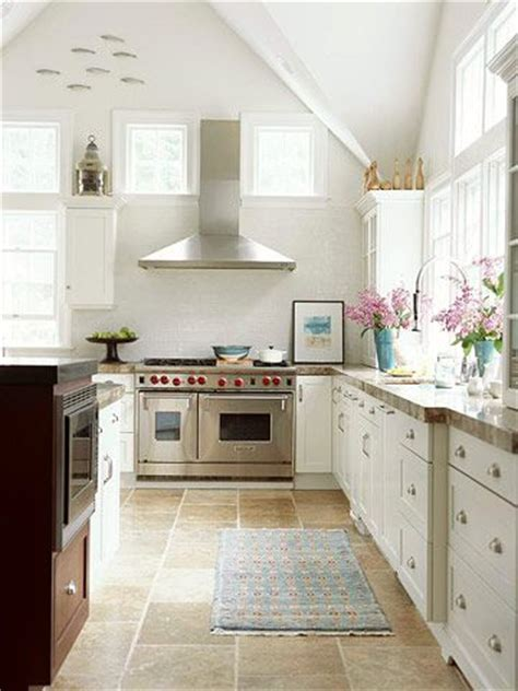 Vaulted Ceiling Kitchen Ideas   Wall cupboards and Window wall