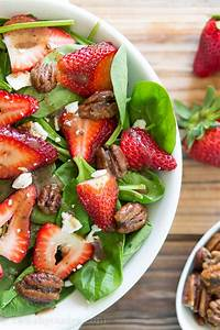 Strawberry Spinach Salad with Candied Pecans - I Wash ...