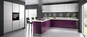 Cuisine Couleur Aubergine : cuisine blanc et violet ~ Premium-room.com Idées de Décoration